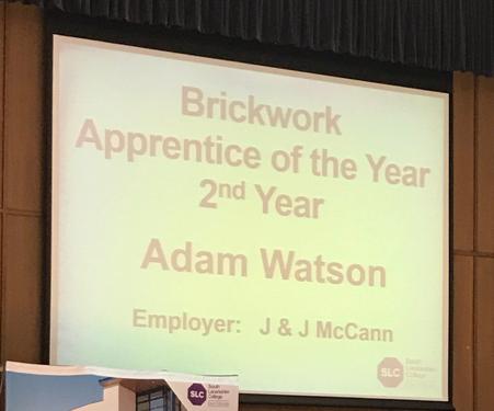 Apprentice of the Year Award 2017 - Adam Watson